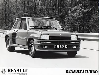 Mk1 Renault 5 Turbo Press Photograph
