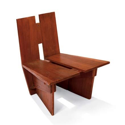 Phenomenal Frank Lloyd Wright Cypress Lounge Chair For The Auldbrass Theyellowbook Wood Chair Design Ideas Theyellowbookinfo