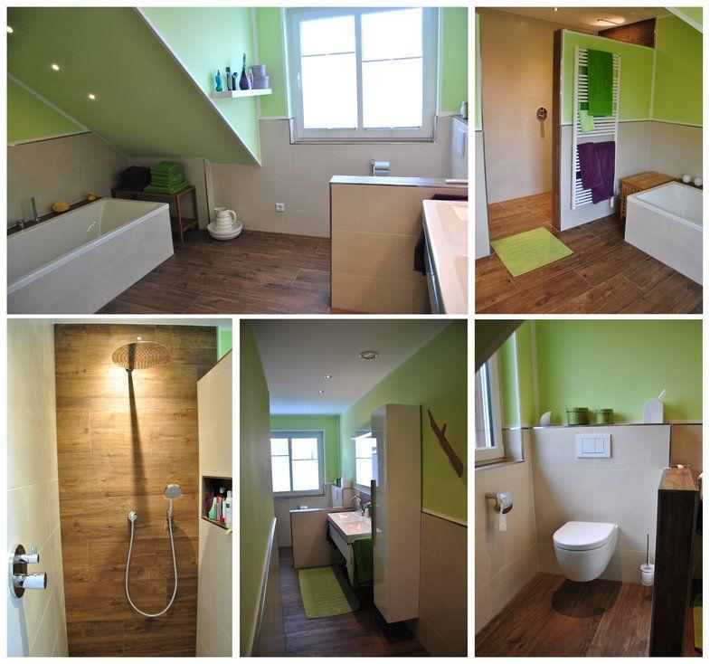 Fliesen In Holzoptik Toll Im Badezimmer An Der Wand Und Dem Boden  Verarbeitet. #Fliesen