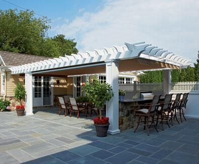 Vinyl Pergola Outdoor Kitchen Cooking Outdoors Surrounded By Your Favorite People Is What American Warm Weath Outdoor Pergola Vinyl Pergola Pergola