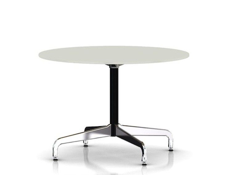 From Herman Miller Eames Table Segmented Base In White Top And Black Column  I Remodelista