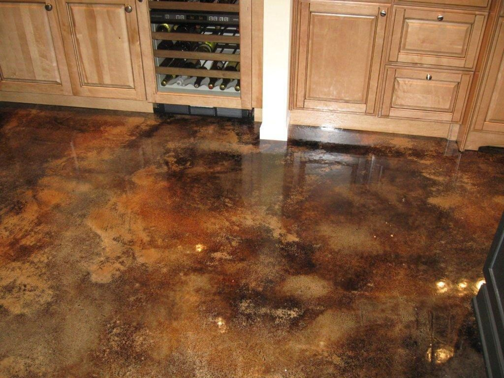 Acid Stained Concrete Floor | For the Home