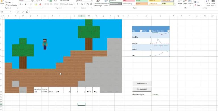 Ya puedes jugar a Minecraft en Microsoft Excel. Sospechábamos que detrás de la compra de Minecraft por parte de Microsoft había algún interés oculto. Hoy nuestras sospechas se han confirmado. Microsoft prepara una nueva versión de Minecraft a la que será posible jugar desde la popular suite ofimática Microsoft Office.