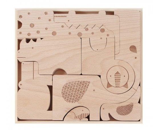 TOYANDONA 1 Pieza de Rompecabezas de Madera para Beb/és Pomo de Madera Montessori Tablero de Clavijas Forma Geom/étrica Juego de Juguetes Educativos para Beb/és