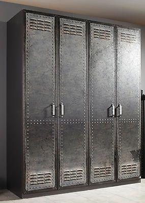 Vintage Details zu Rauch Select Kleiderschrank Spind Workbase Vintage Breiten Dielenschrank
