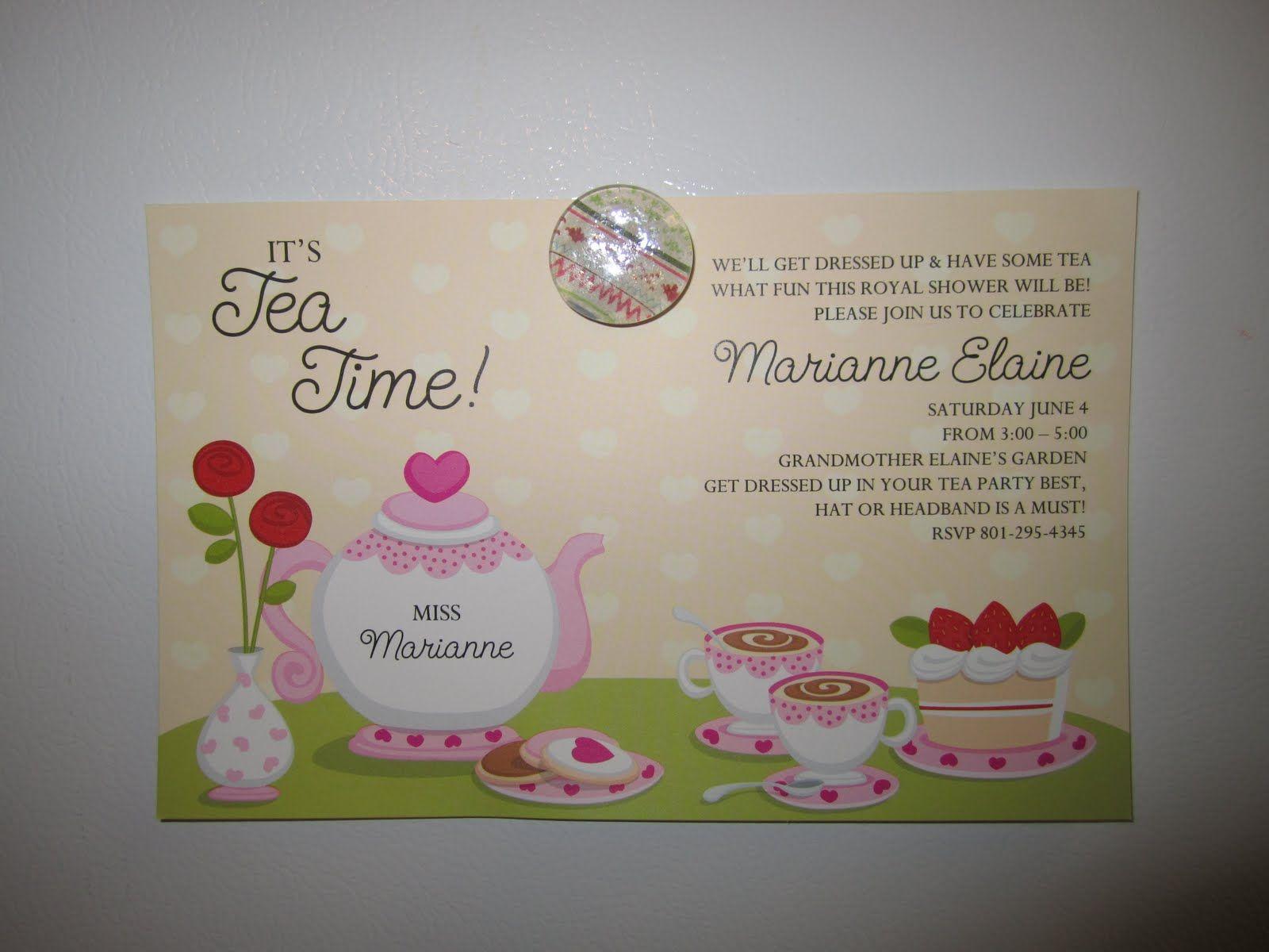 Invitation Wording Tea Party Bridal Shower Pinterest Tea Party