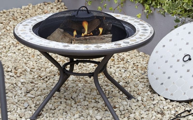 B&q Fire Pit Logs Silene Mosaic Firepit Table Contemporary Exterior ...