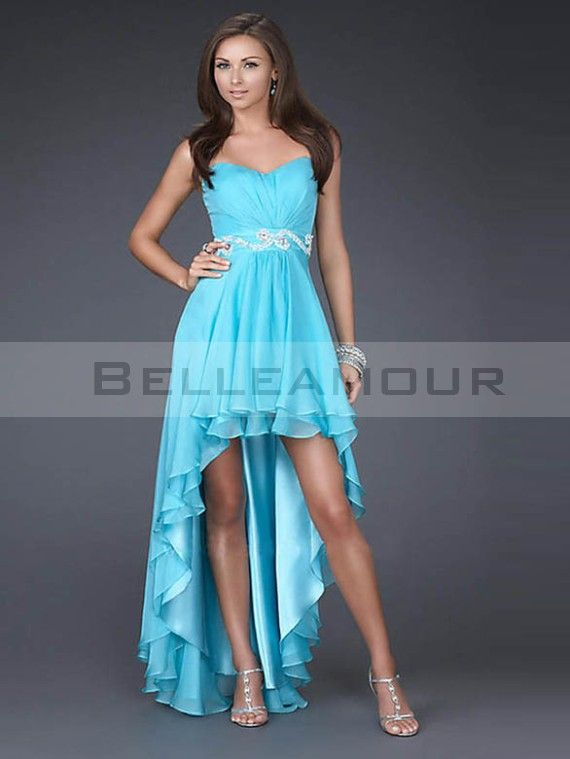 Robe cocktail courte devant longue derriere
