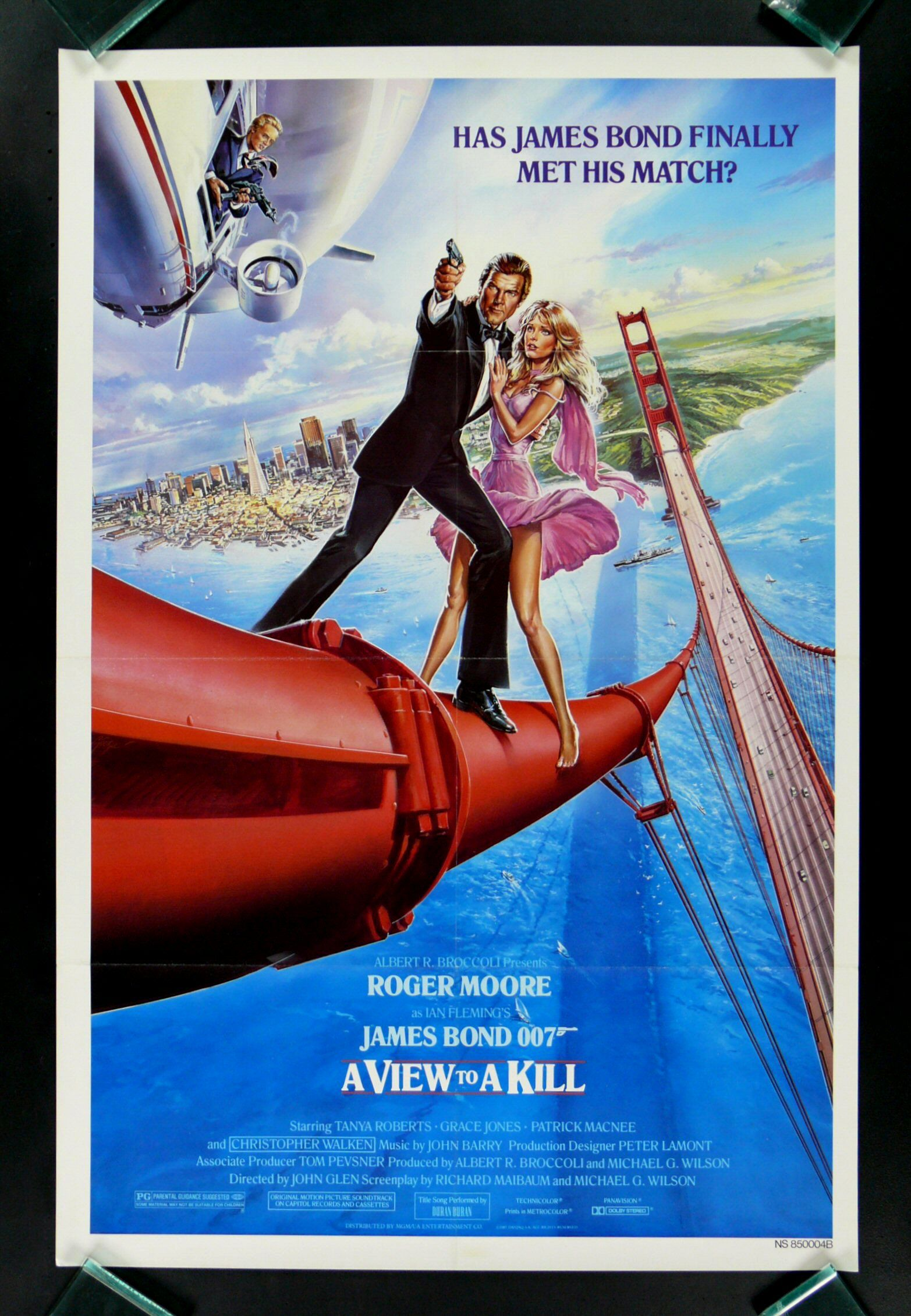 Another Us Alternate Poster For A View To A Kill With Roger Moore