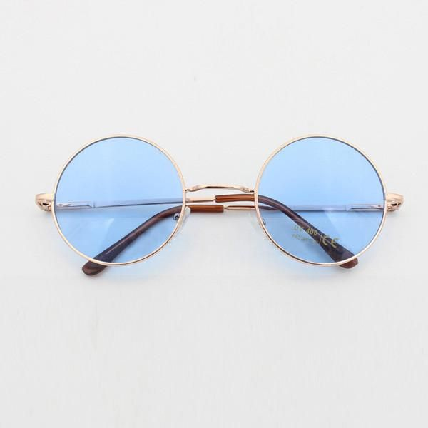 2346a6363b5 John Lennon Round Sunglasses In 3 Pastel Colors Pink Blue And Purple Hippie  Shades With Gold Frames Coachella Festival Boho Groovy