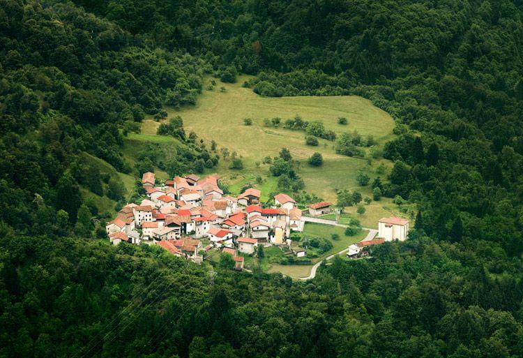 Village in green
