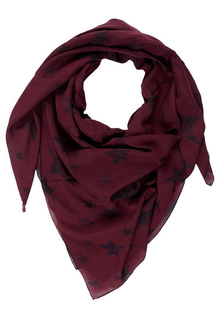 viininpunainen huivi tähtikuvio Bloom Copenhagen - burgundy star scarf