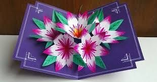 Image Result For What Dies Are There To Make A Pop Up Card Pop Up Flower Cards Flower Cards Pop Out Cards