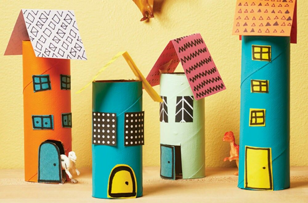Houses Toilet Paper Crafts Toilet Paper Roll Crafts Paper Roll