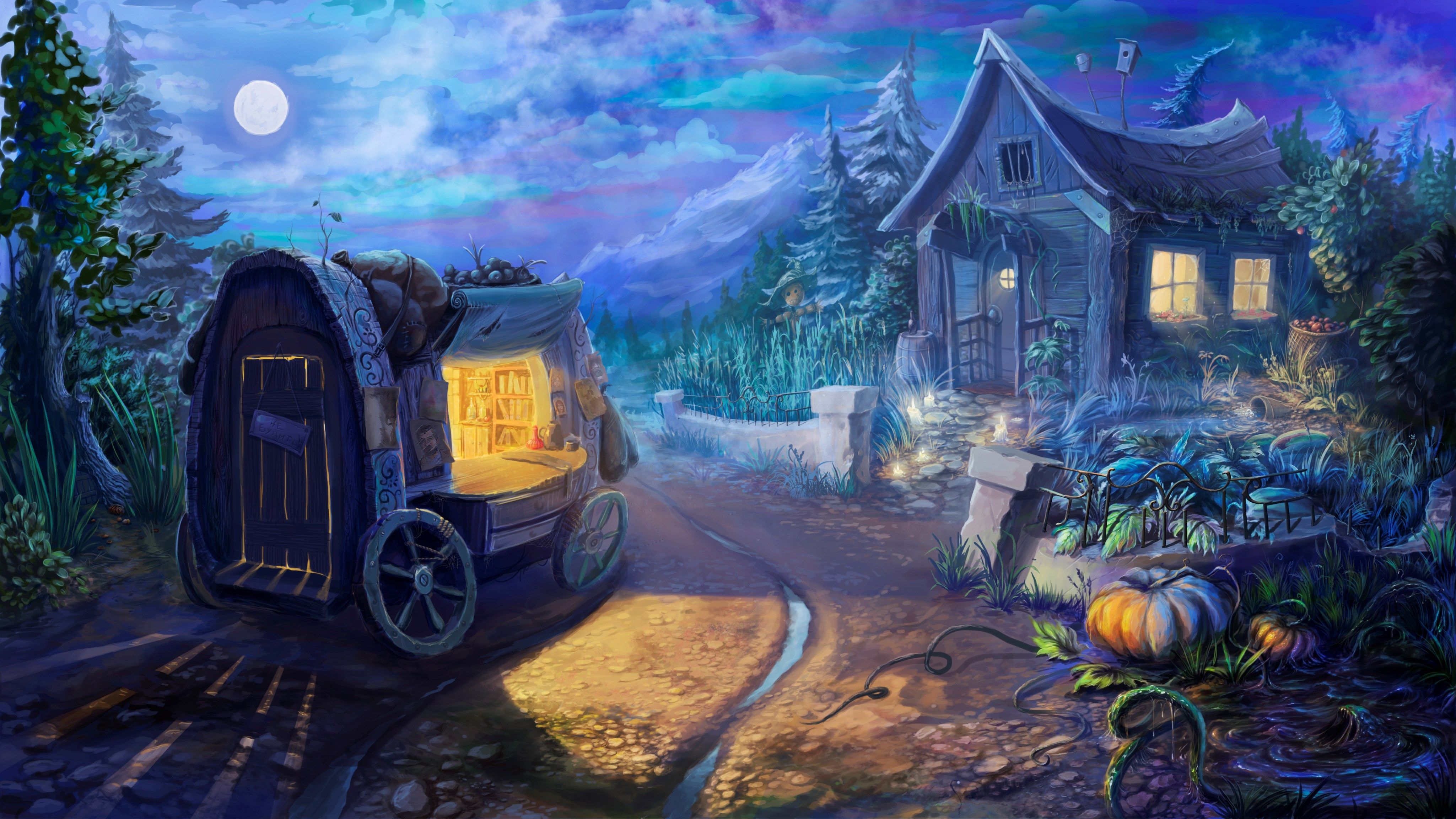 Pretty Fairytale Backround 4098x2304 1506 Kb Background For Photography Fantasy Art Landscapes Party Photo Booth Backdrop