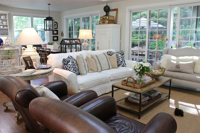 Forever Cottage Home Tour A Winner Living Room Leather Farm House Living Room Leather Living Room Furniture