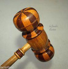 Joli maillet ancien en bois tourn de maitrise marteau - Maillet en bois ...