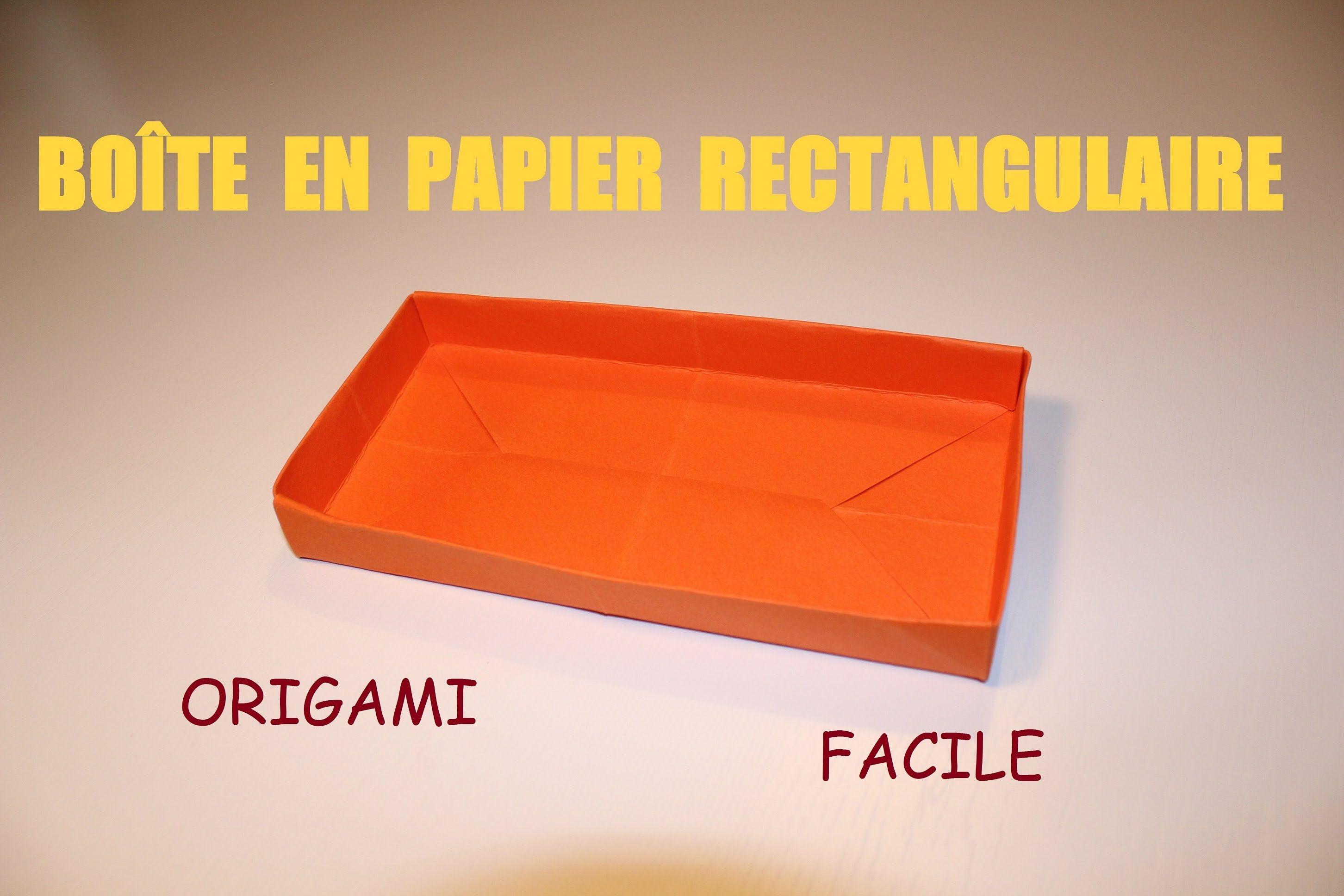 Comment Faire Une Boite En Papier Rectangulaire Origami Facile