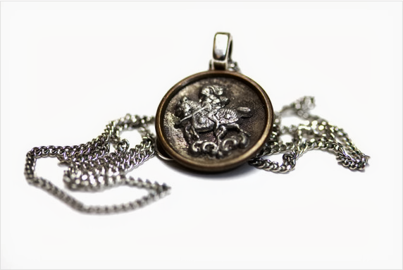Antique Knight Button Pendant by ChatterBlossom Jewelry Box
