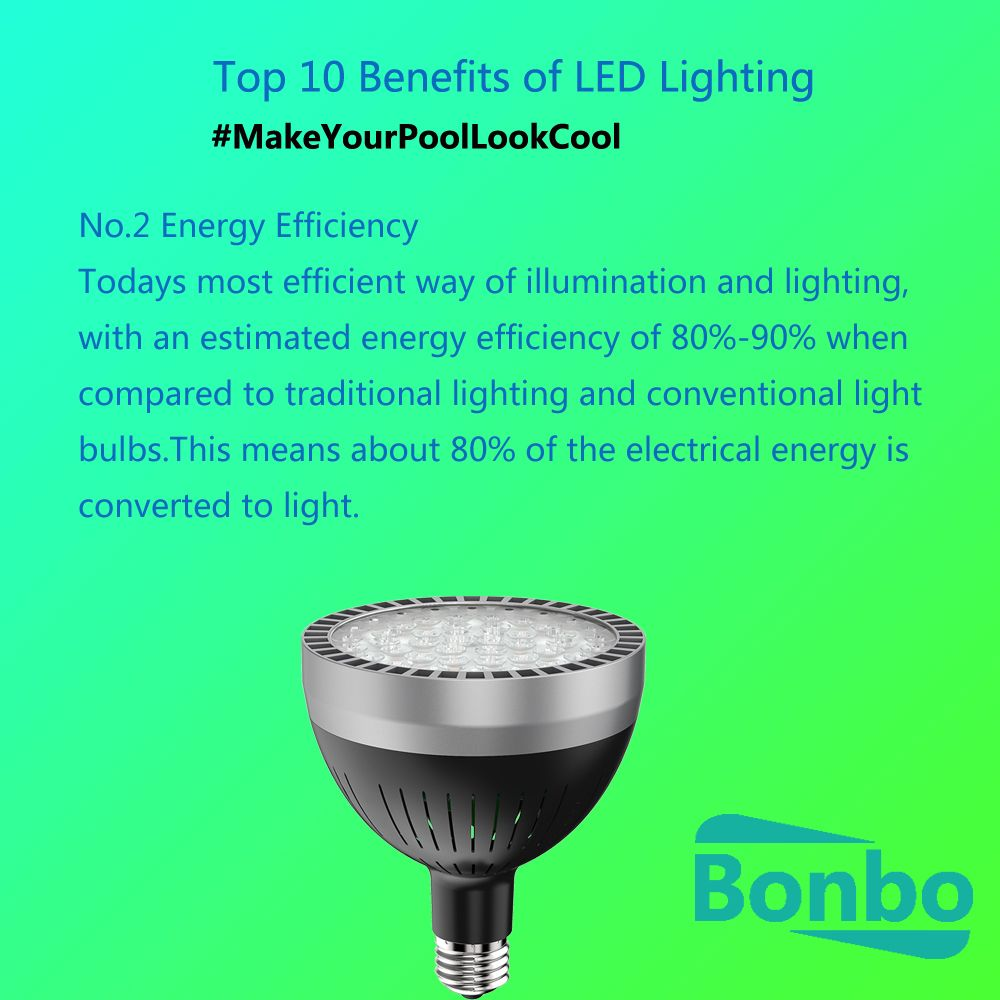Top 10 Benefits Of Led Lighting No 2 Energy Efficiency How Led Pool Lights Can Save Your Money Ma Swimming Pool Lights Led Pool Lighting Traditional Lighting