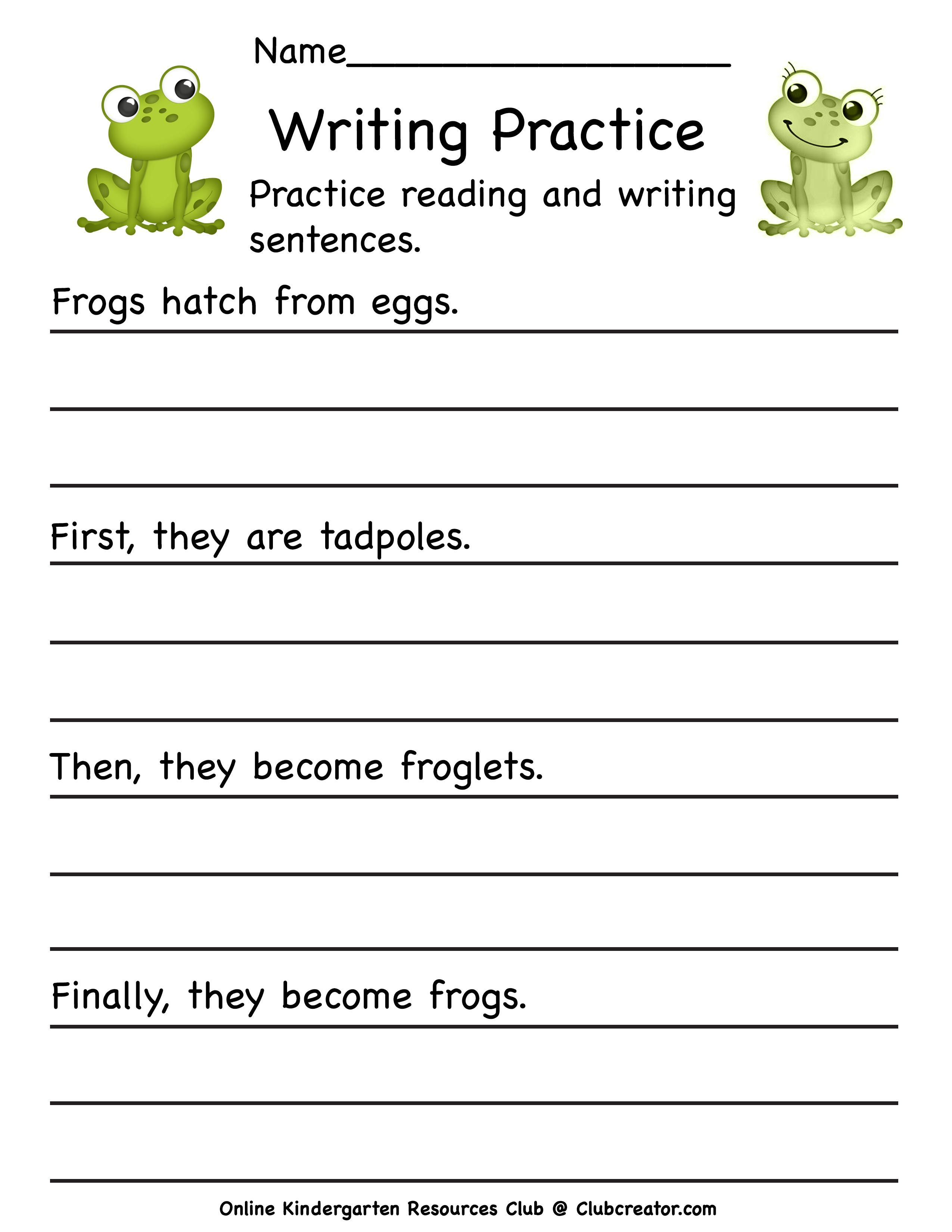 Frog Life Cycle Worksheet In