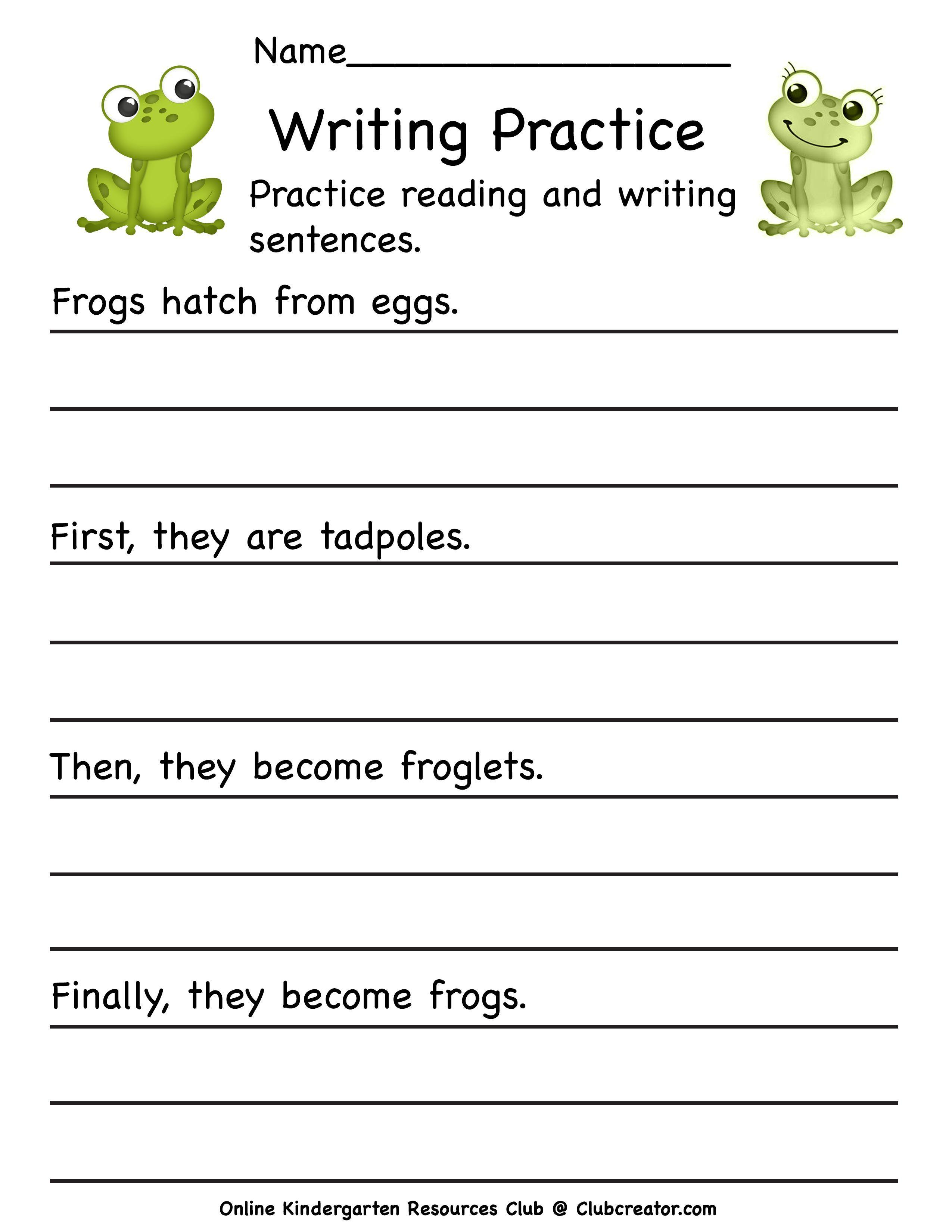 Frog Life Cycle Worksheet In