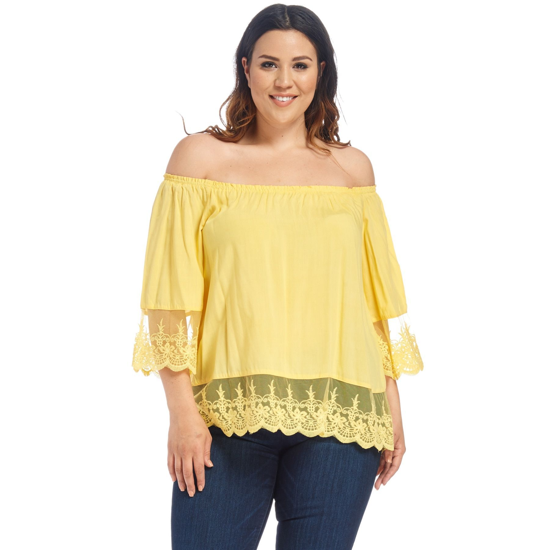 a476af2f65f50 Hadari Xehar Women s Plus Size Casual Off Shoulder Blouse Shirt Tops ...