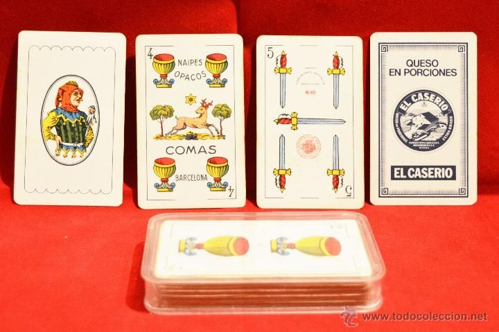 Baraja De Cartas Comas Publicidad El Caserio 48 Cartas 2 Juegos