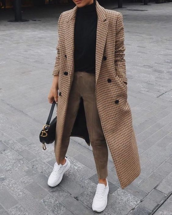 Photo of Winter coat | Sneakers | Winter | Street style | Handbag | Inspiration | More about &#
