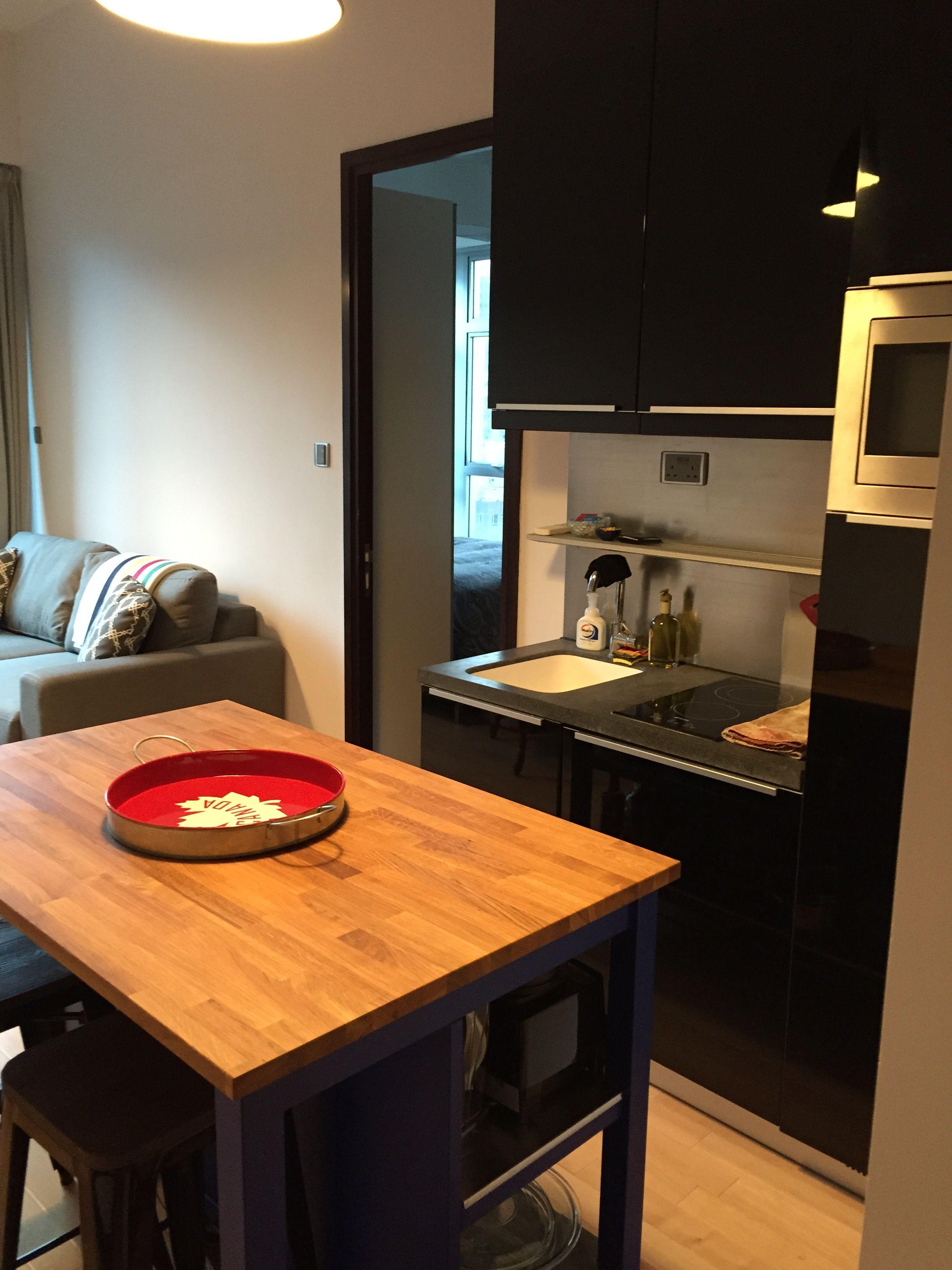 440 sq ft apartment kitchen (Ikea Stenstorp) - Hong Kong Apartment ...