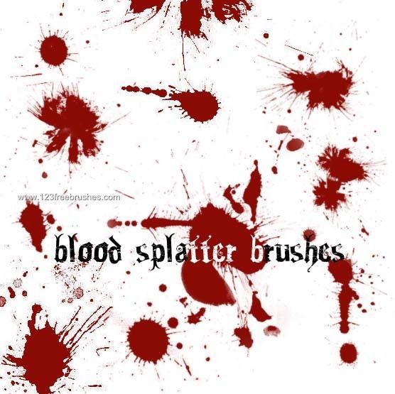 Blood Splatter 4 - Download  Photoshop brush http://www.123freebrushes.com/blood-splatter-4-2/ , Published in #BloodSplatter, #GrungeSplatter. More Free Grunge & Splatter Brushes, http://www.123freebrushes.com/free-brushes/grunge-splatter/ | #123freebrushes