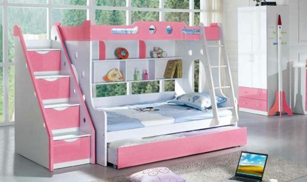 Charmant Rosiges Design Vom Hochbett Für Mädchen