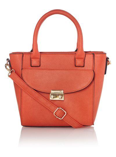 Sku Ss16 Beatnik Orange Double Compartment Mini Bag One Size