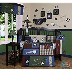 Geenny 13 Piece Crib Bedding Set Clic Sports