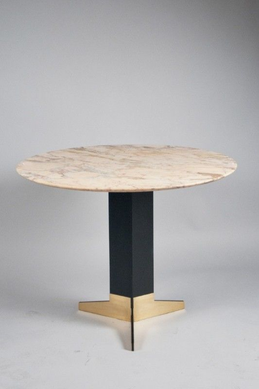 At The Table Or On The Table Ignazio Gardella Brass Enameled Steel And Marble Center Table C1950 Table Furniture Furniture Dining Table Furniture