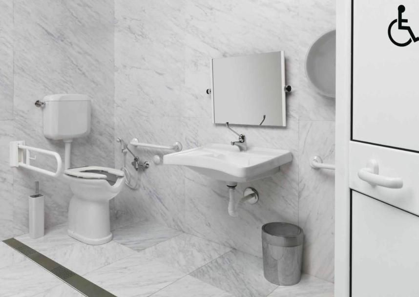 white and luxury bathroom accessories for disabled ausil line