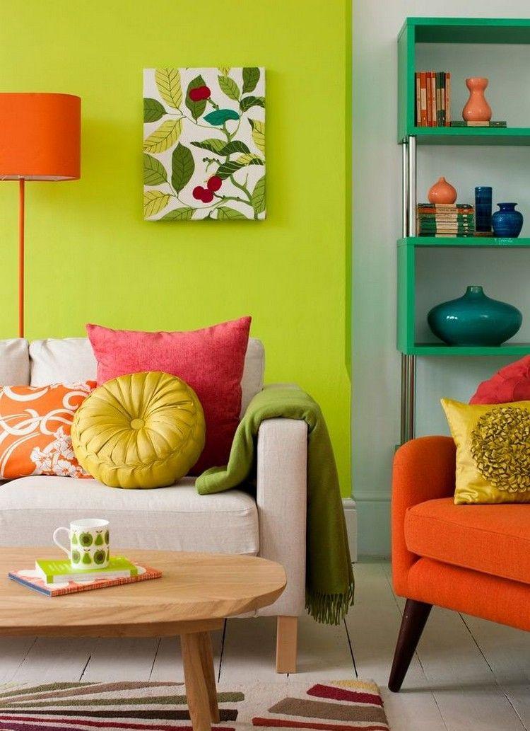 Wohnzimmer Farbgestaltung U2013 28 Ideen In Grün #farbgestaltung #ideen # Wohnzimmer