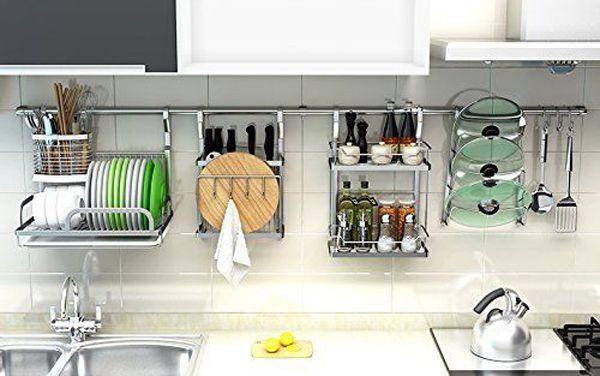 Dish Drying Racks For Kitchen Organizer, Kitchen Cabinet Hanging Rack