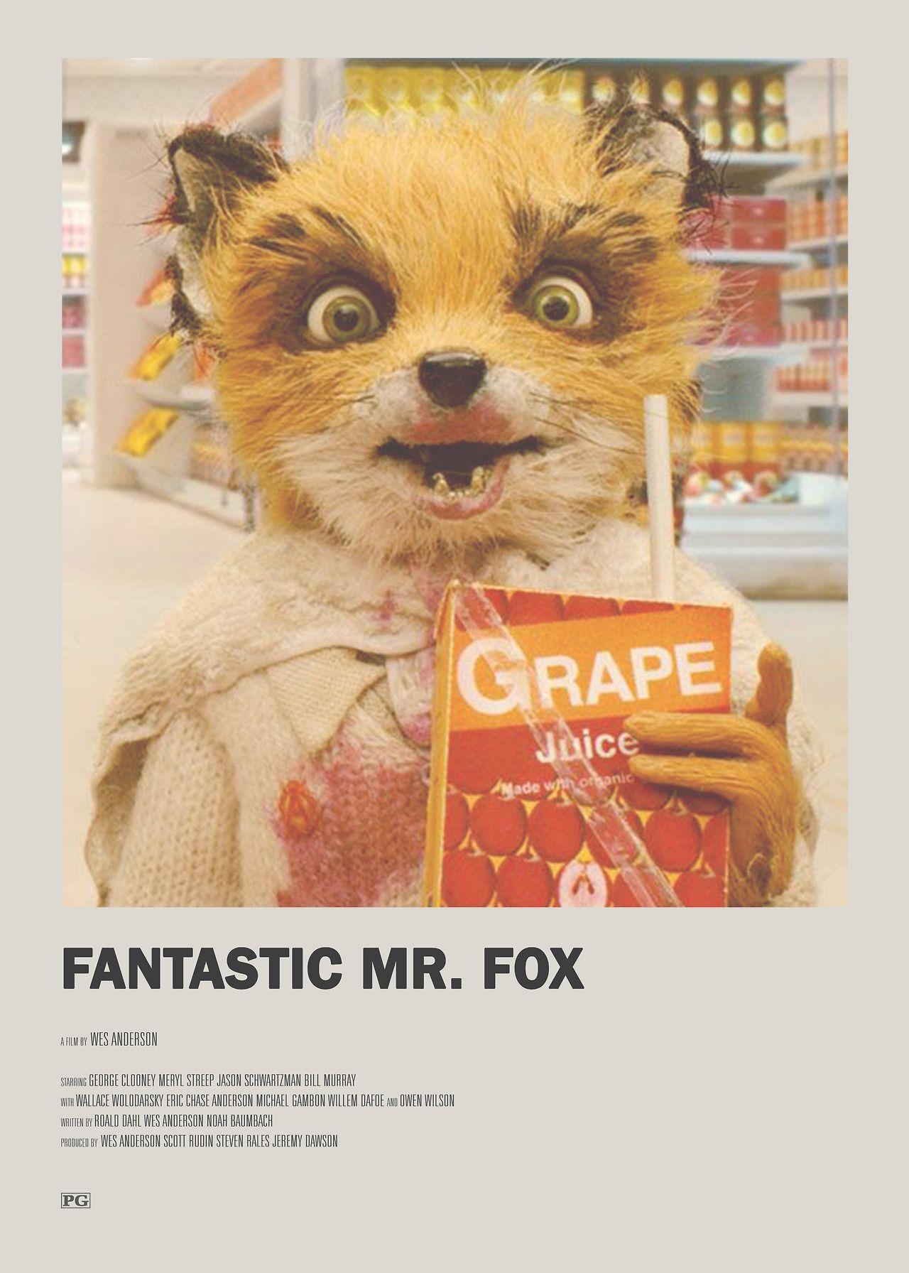 Fantastic Mr Fox Minimal Movie Poster Minimal Movie Posters Film Poster Design Movie Poster Wall