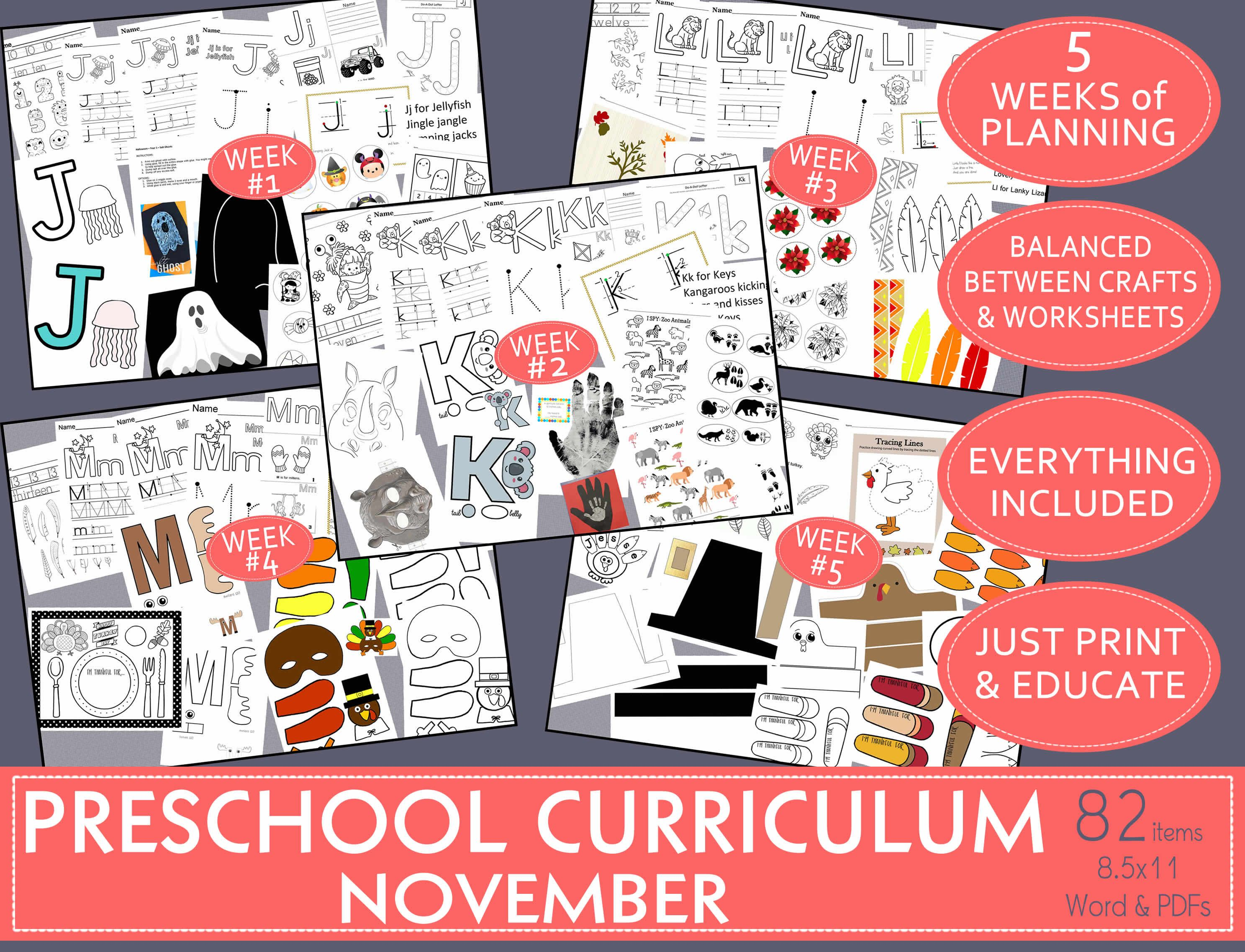 Balanced Preschool Curriculum Amp November Activities A