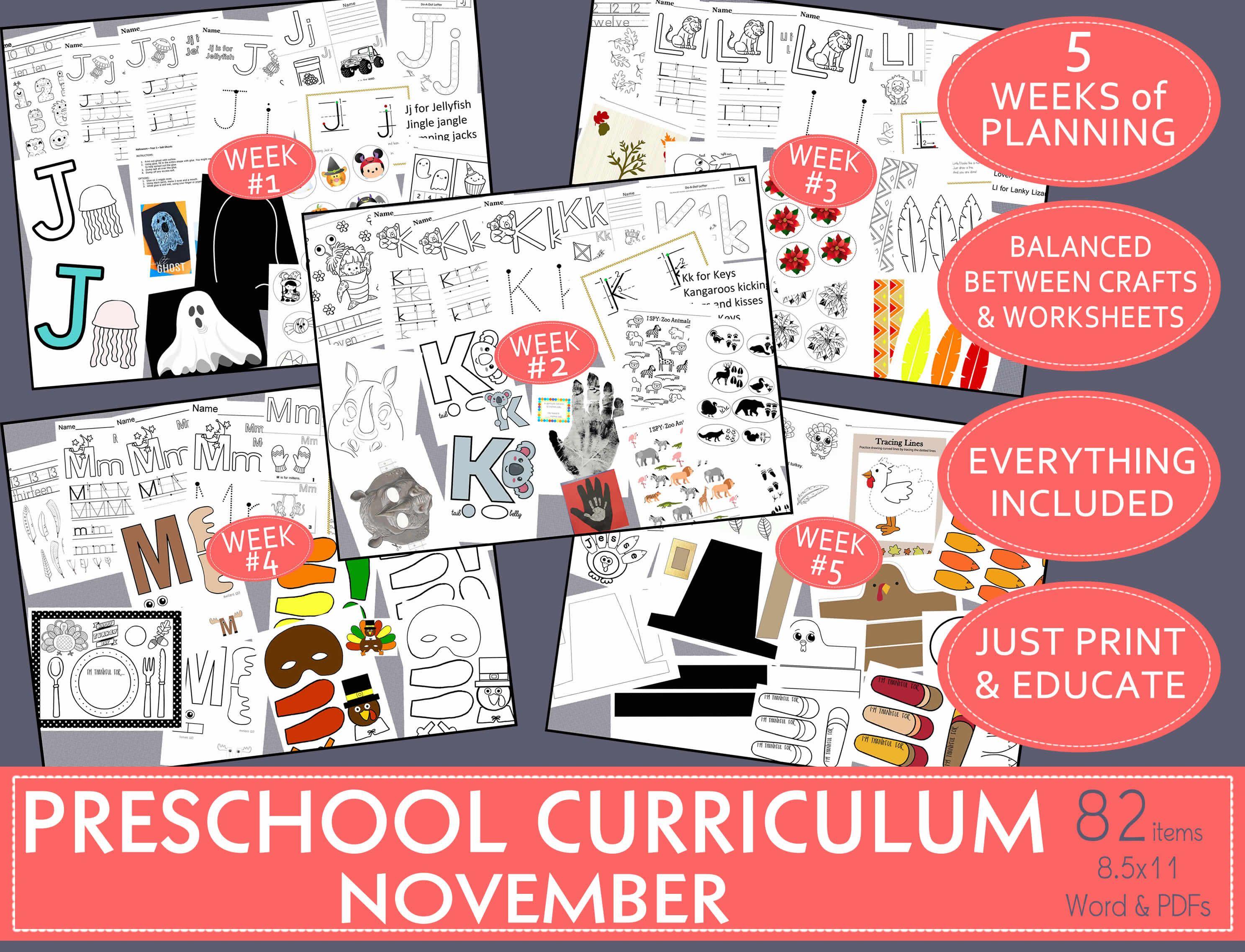 Balanced Preschool Curriculum Amp November Activities A