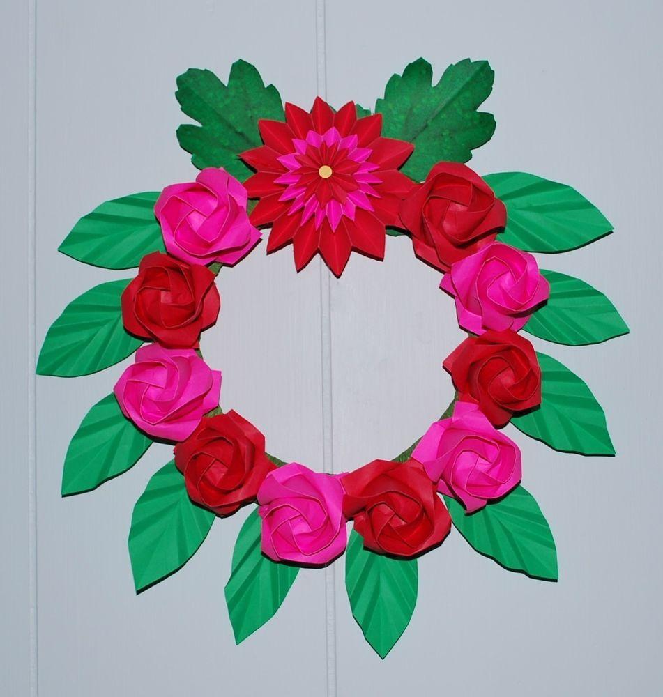 Origami Door Decoration & Patriotic Paint Chip Wreath - photo#29