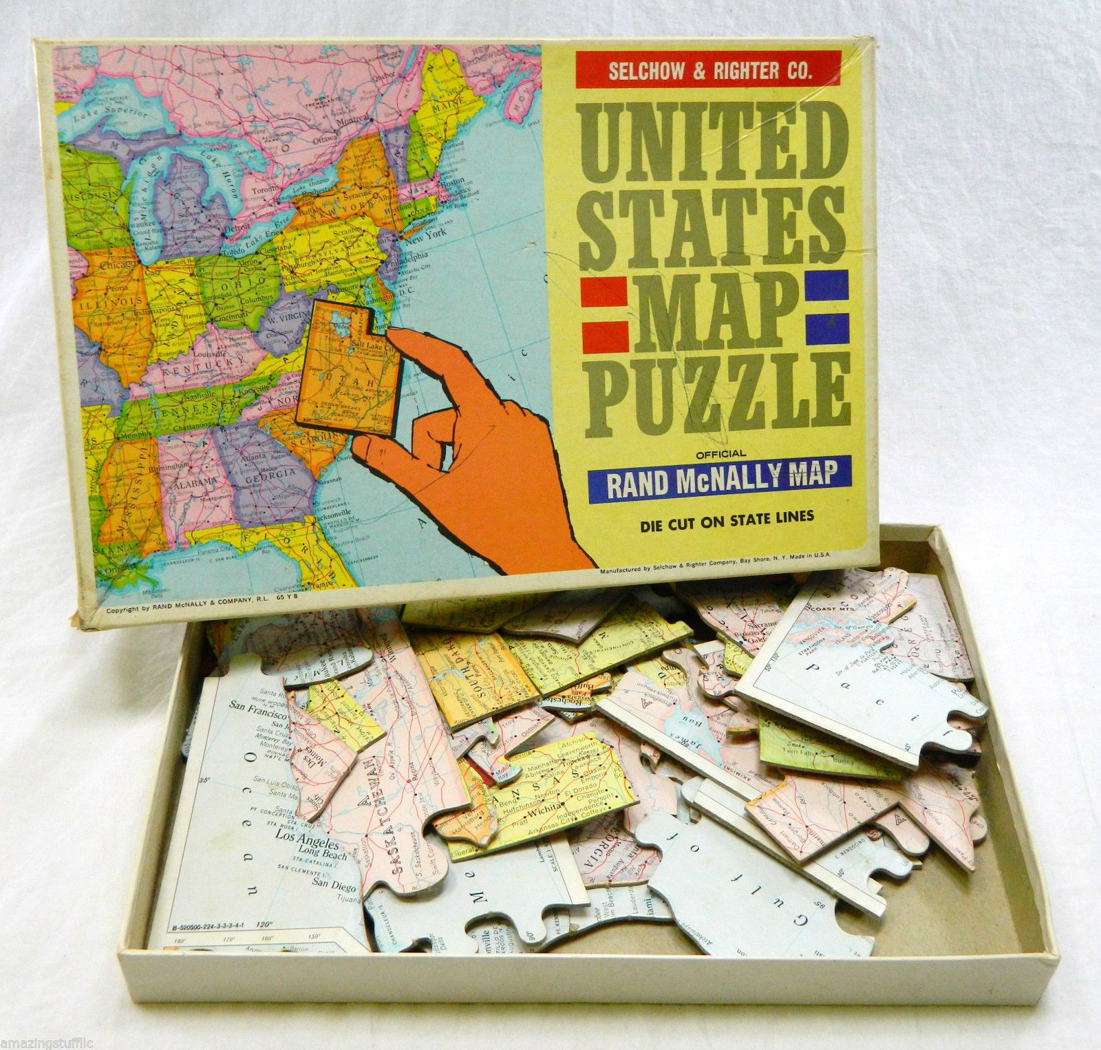 1965 complete united states map puzzle selchow righter vintage rand 1965 complete united states map puzzle selchow righter vintage rand mcnally ebay 20 and 15 gumiabroncs Images
