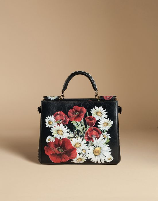 bf137a19eb22 SICILY SHOPPING BAG IN PRINTED DAUPHINE LEATHER - Medium leather bags -  Dolce Gabbana - Summer 2016