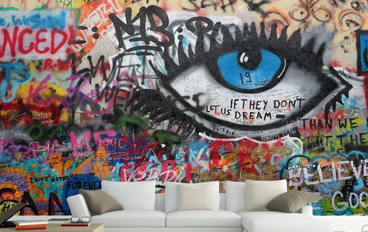 Mega 3d Eye Fashion Graffiti Paper Wall Print Decal Wall Deco Indoor Wall Murals Graffiti Wall Art Graffiti Wall Graffiti Wallpaper