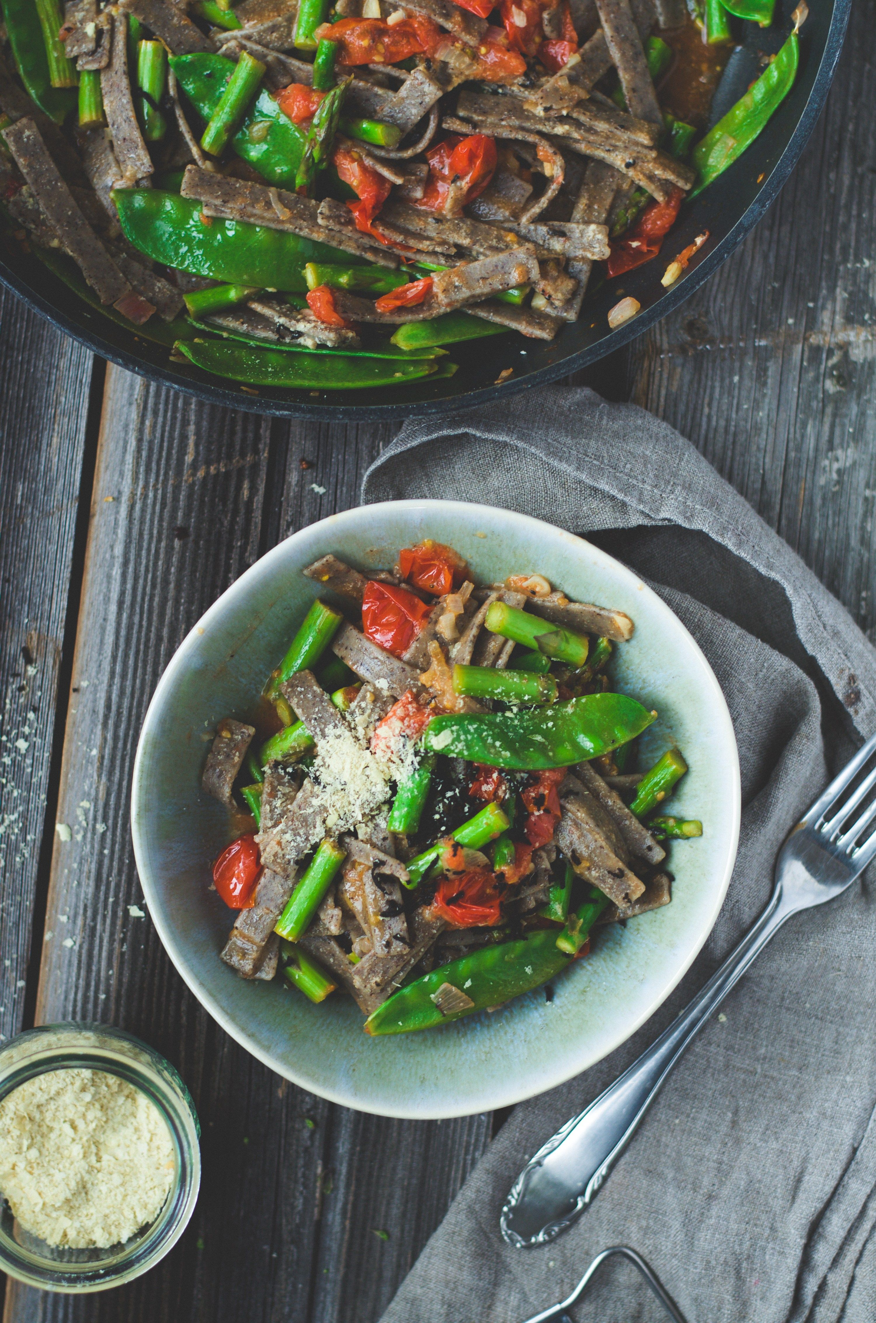 Truffle pizzoccheri with spring veggies real food clean food find this pin and more on real food clean food recipes forumfinder Choice Image