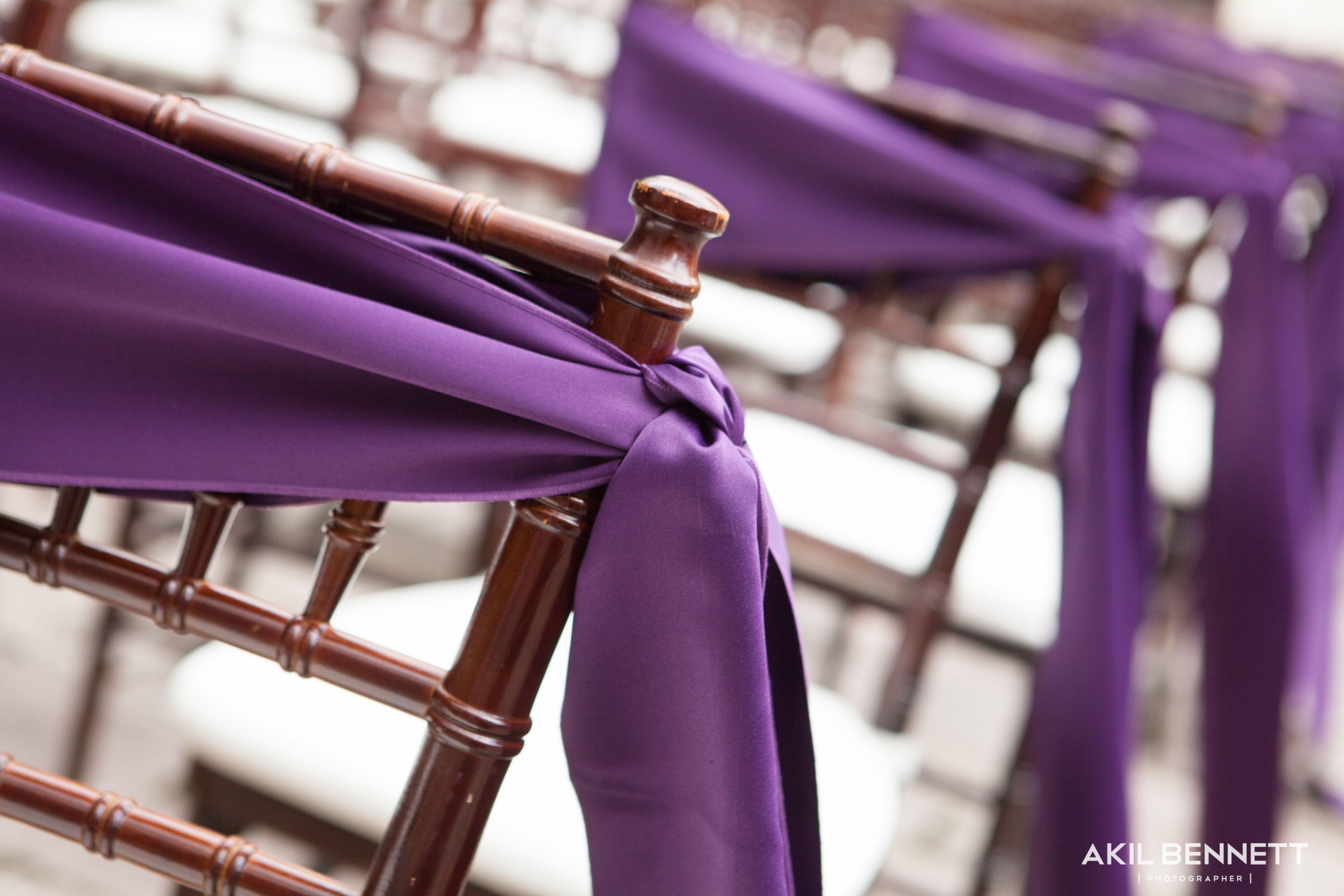 Aisle chair sashes The Bell Tower on 34th Houston wedding