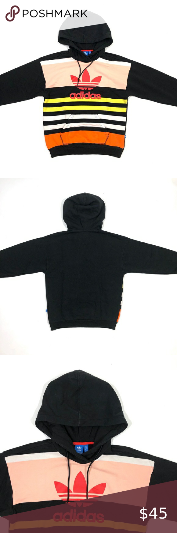 Adidas Originals Trefoil Colorblock Hoodie Adidas Originals Hoodies Sweatshirts Hoodie [ 1740 x 580 Pixel ]