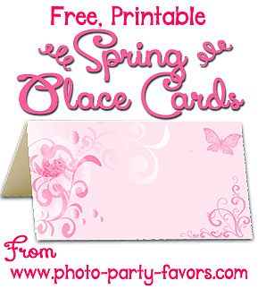 Pretty springtime free printable place cards can also be used as pretty springtime free printable place cards can also be used as escort cards buffet cards negle Image collections