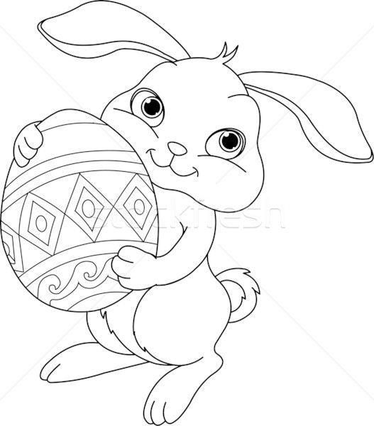 Pasti Bunny Fericit Ou Iepure Pictura Ilustratie Vectoriala C Anna Velichkovsky Bunny Coloring Pages Easter Bunny Pictures Easter Bunny Colouring